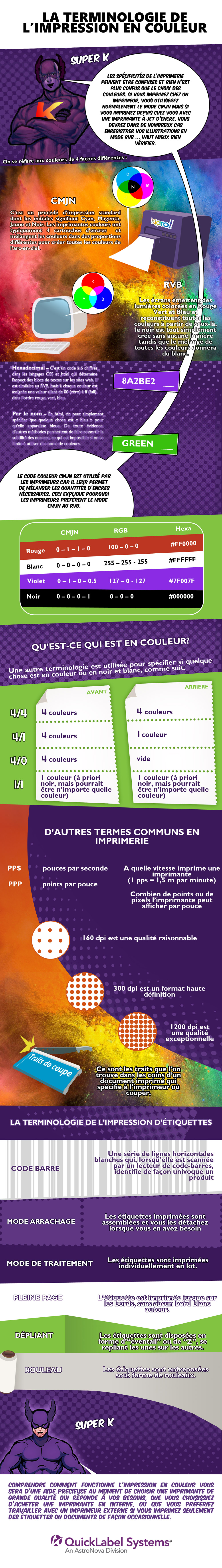 Infographic in French Printing Terminology for Social Media -